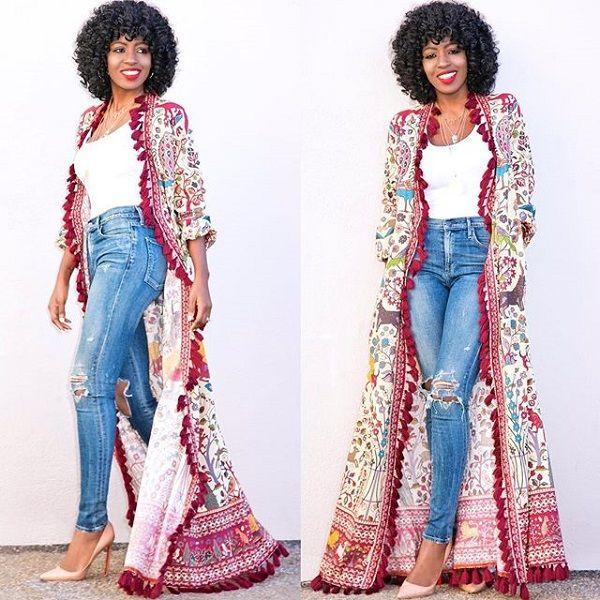 black fashion blogger Folake Huntoon with crochet hair