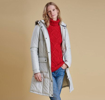 The ultimate winter warmer, this longer-length women's coat is baffle quilted for superb warmth. barbour sale outlet, Its cosy hood is lined in Sherpa fleece and trimmed with fur, creating the classic parka look.