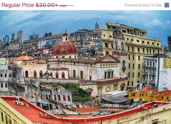 SALE Cuba Photography Havana Cuba Havana by AroundTheGlobeImages, $25.50