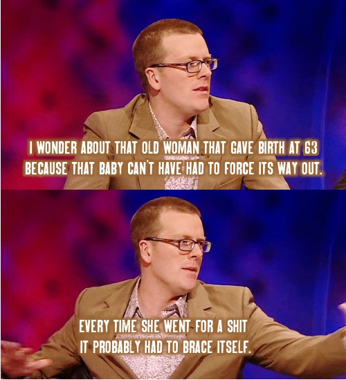 Frankie boyle on Mock The Week-BAAAAHAHA, seriously I have no idea what this is, or what it's in reference to, but the captions caught me so off guard I actually laughed hard for a solid 35 seconds!!
