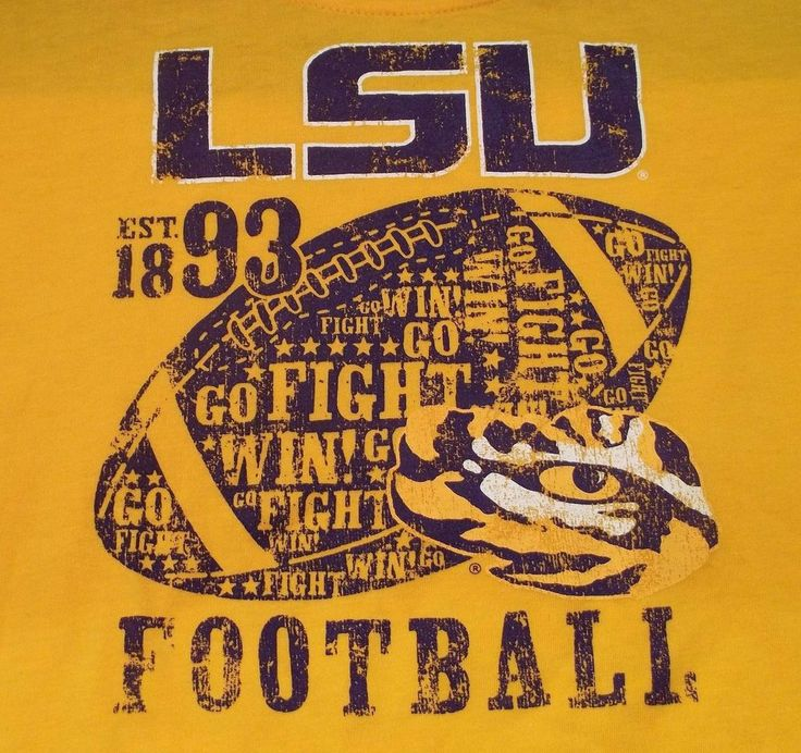 Louisiana State University Tigers Football Ladies Shirt XL X-Large (14/16) LSU #Russell #LSUTigers
