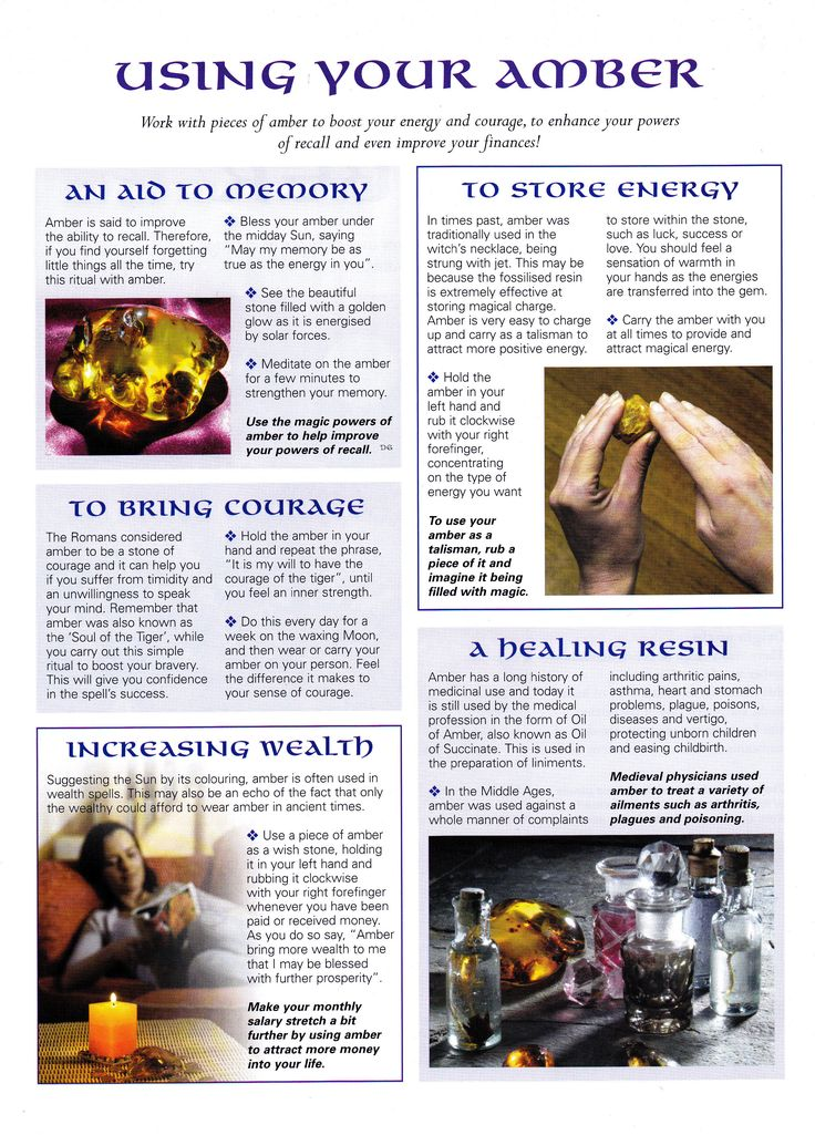 Using your Amber for crystal healing