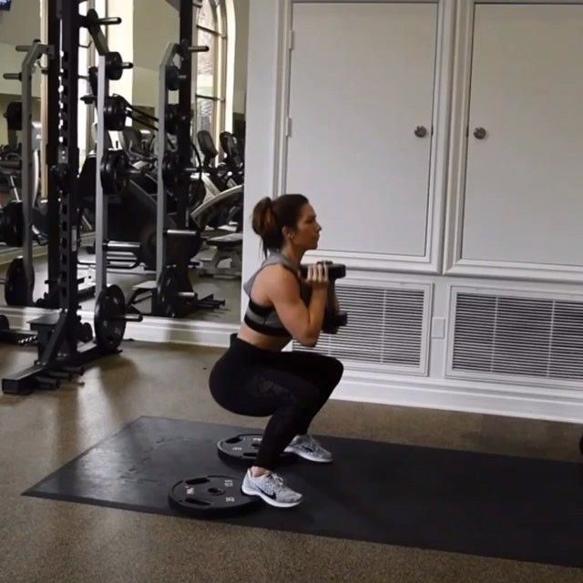 Squat / deadlift combo. Elevate your heels on two plates ...
