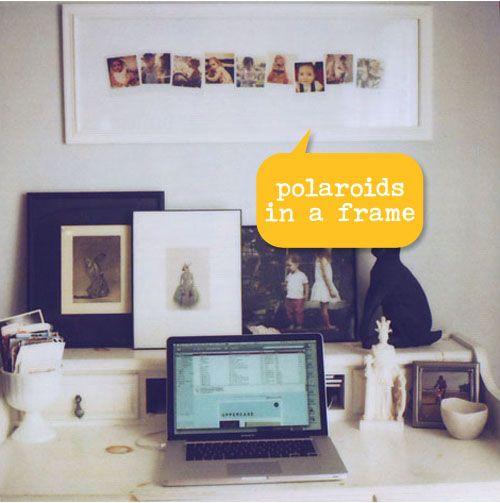 Polaroids in a frame...