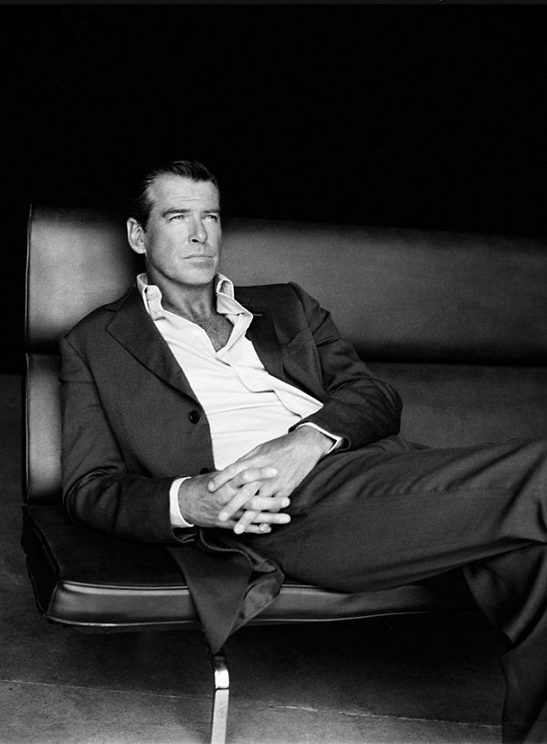 Pierce Brosnan - saw him up close once. He's even sexier in person.