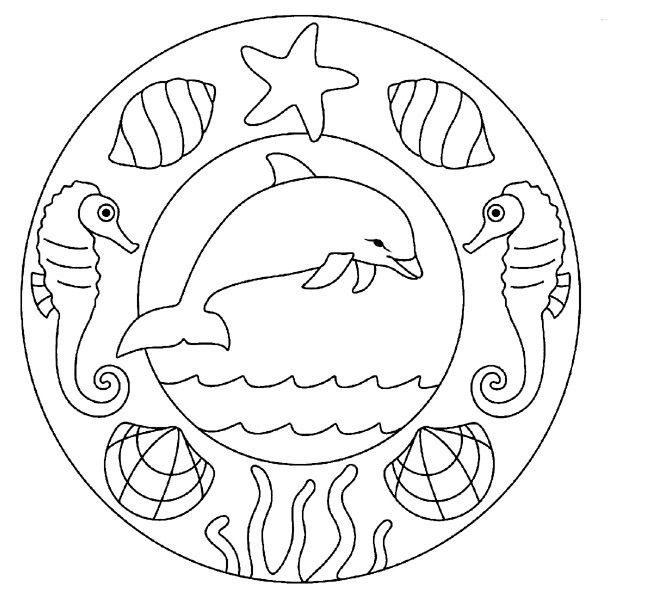 coloriage #70189 dessin mandalafacile à colorier