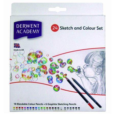 Derwent Academy 6 Sketch & 18 Colour Carton, $14 !!