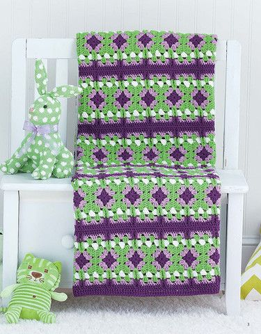 Picture of Granny Square Baby Afghans