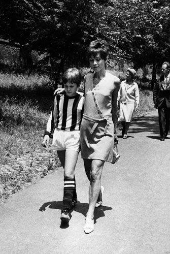 Anni 60, Audrey Hepburn and her son Sean Ferrer