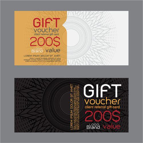 Vector set of gift voucher design elements 03