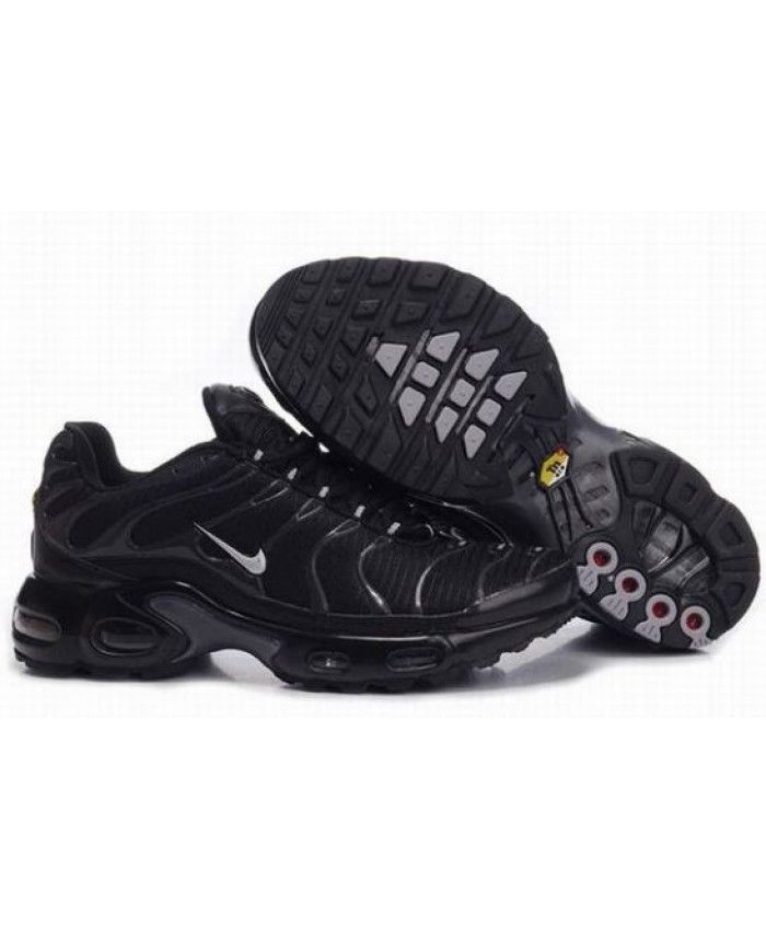 Mens Nike Air Max TN Black Metallic Silver Grey Trainer