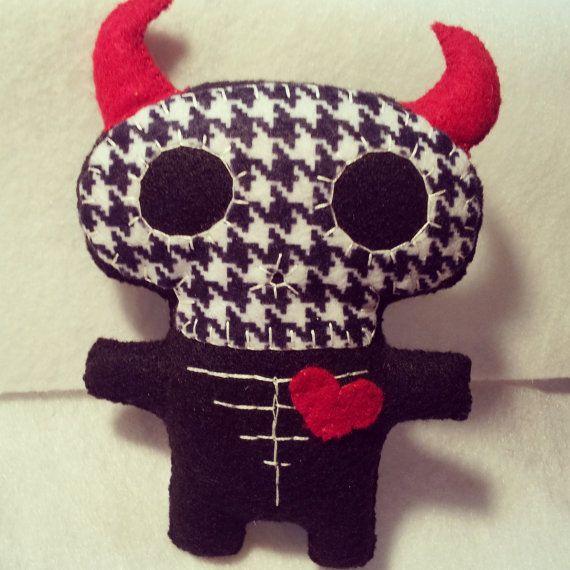 Skelebaby DevilBaby Ornamental Toy Feltie by GypsyJunkStudio