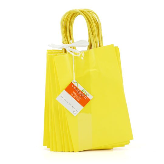 Small Paper Bag Value Pack by Celebrate It™, Yellow