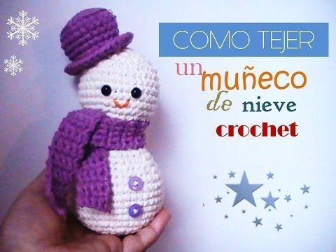 Como tejer un MUÑECO DE NIEVE a crochet (Diestro) - YouTube