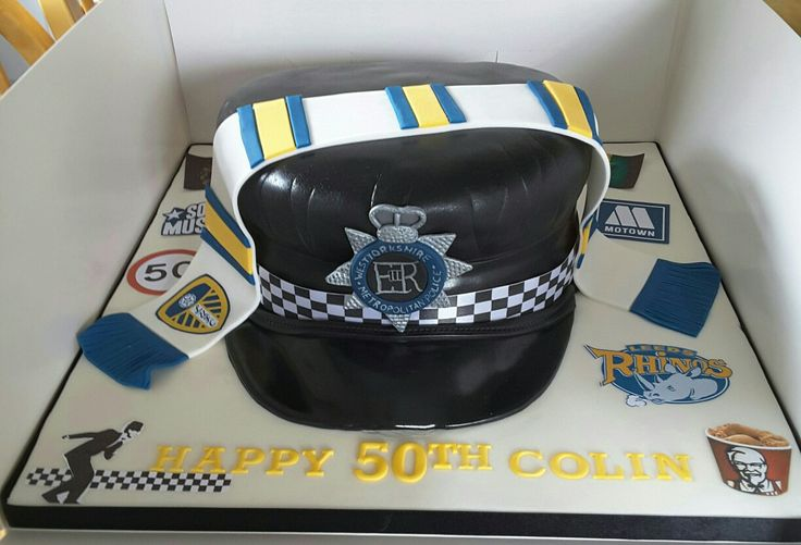 West yorkshire police and leeds united supporter cake