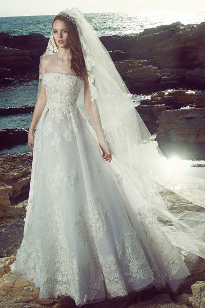 Vestidos de novia línea A 2017: 40 diseños para lucir una figura estilizada y entallada Image: 27