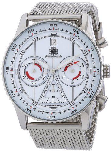 Constantin Durmont Herren-Armbanduhr XL Lancer Chronograph Quarz Edelstahl CD-LANC-QZ-STM2-STST-WH - http://uhr.haus/constantin-durmont/constantin-durmont-herren-armbanduhr-xl-lancer-2