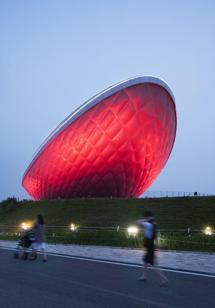 The ARC- River Culture Multimedia Theater Pavilion / Asymptote Architecture #architecture