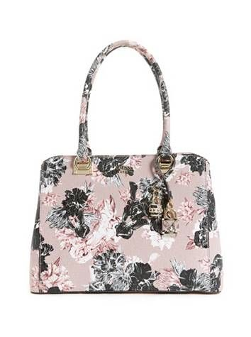 Halley Floral Girlfriend Satchel at Guess