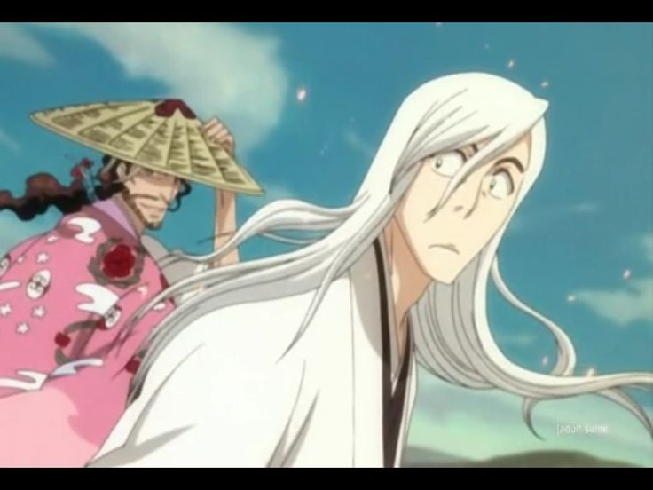 Bleach captain Ukitake and captain Kyouraku