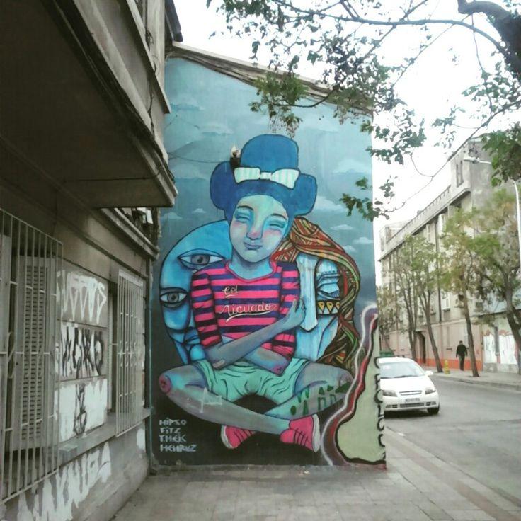 Street Art Chile, Yungay Town Santiago / Arte Callejero Barrio Yungay Santiago de Chile