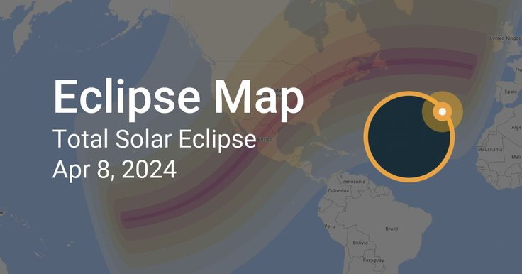 Map of Total Solar Eclipse on April 8, 2024