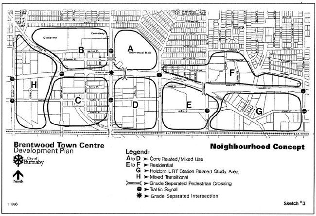 1996 Brentwood TC Transportation Network (Burnaby, 1996)