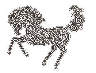 Celtic Horse  Celtic Horse - Mac Eanruig Designs - Unmatted - $12.00 +