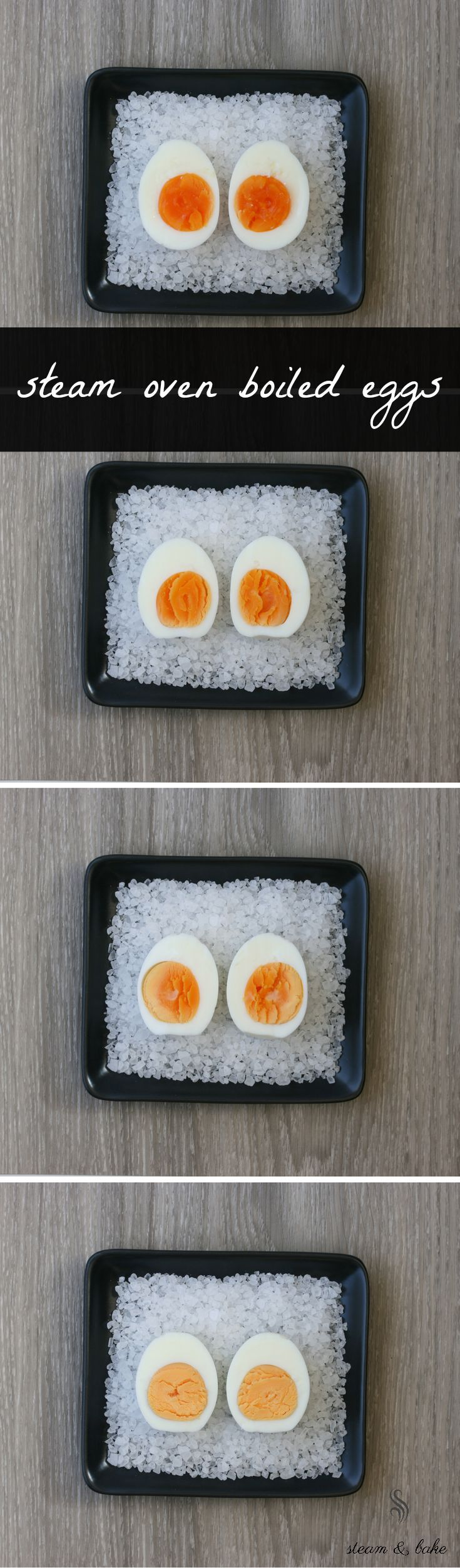 Perfect boiled eggs every time using your steam or convection steam oven.