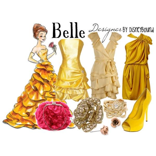 my favorite princess. i like the last dress and the flower earrings