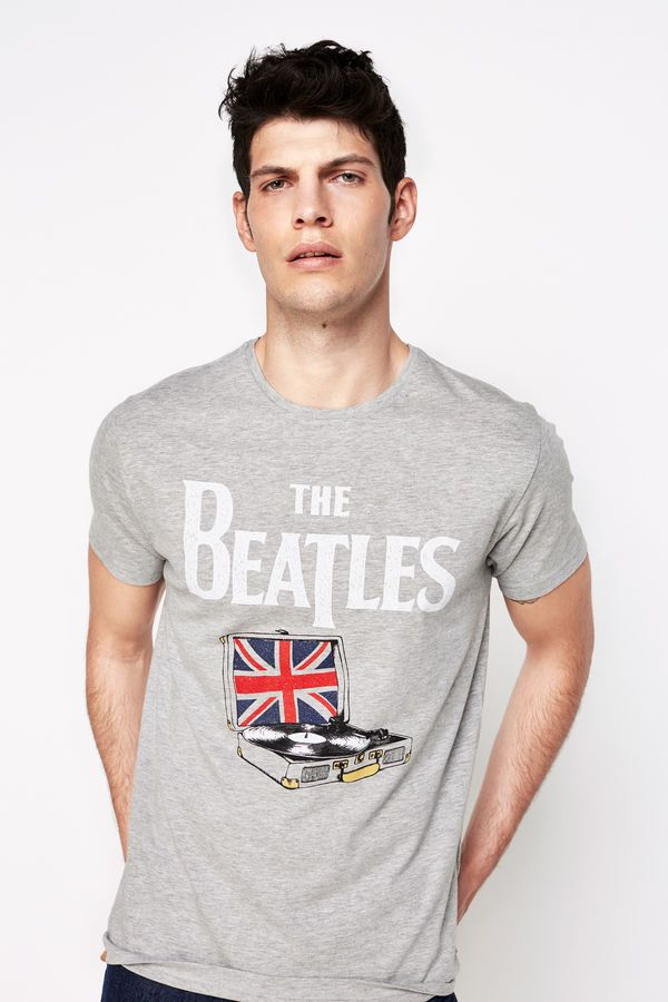 Springfield CAMISETA ESTAMPADA 'THE BEATLES' gris