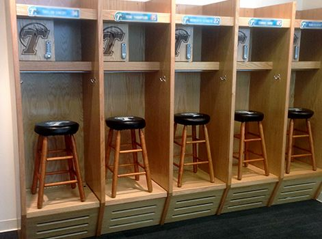 Image result for wood lockers