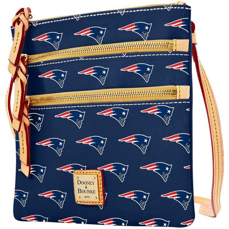 Women's New England Patriots Dooney & Bourke Navy Triple Zip Crossbody Purse