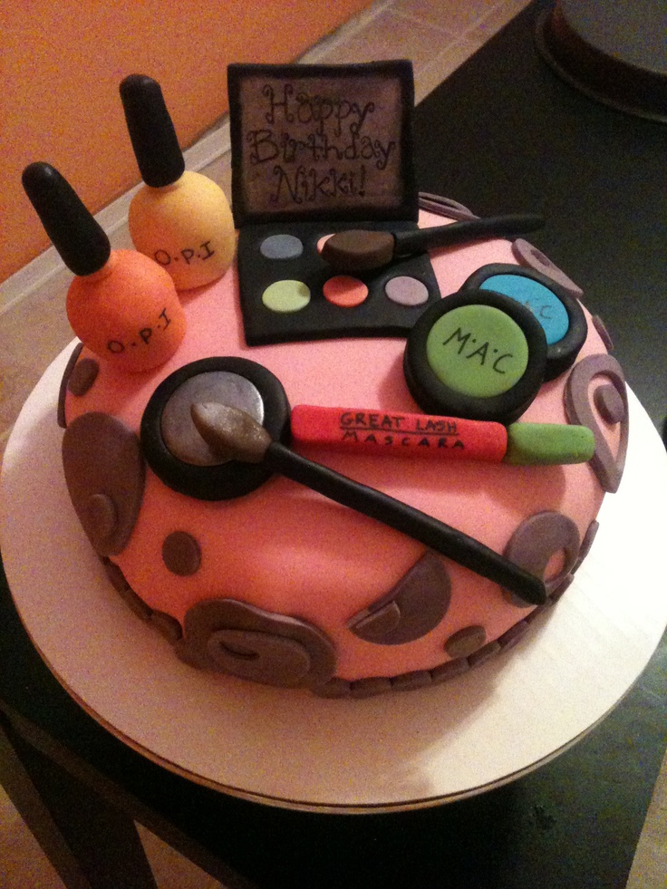 A Make Up Cake For A 12 Year Old Birthday My Cakes
