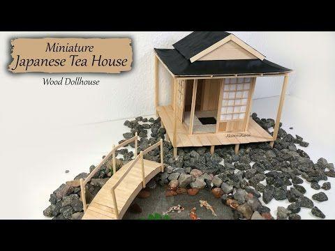 Miniature Japanese Tea House - Wood Dollhouse Tutorial - YouTube