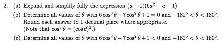 Trig equation cubic - Canadian Senior Maths Contest 2013 B2
