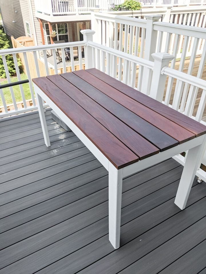 Protecting Unfinished Ipe Using Oil Using Ipe For Outdoor Furniture 1000 In 2020 Diy Outdoor Furniture Outdoor Furniture Design Outdoor Furniture