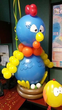 decoracion de globos gallinas -