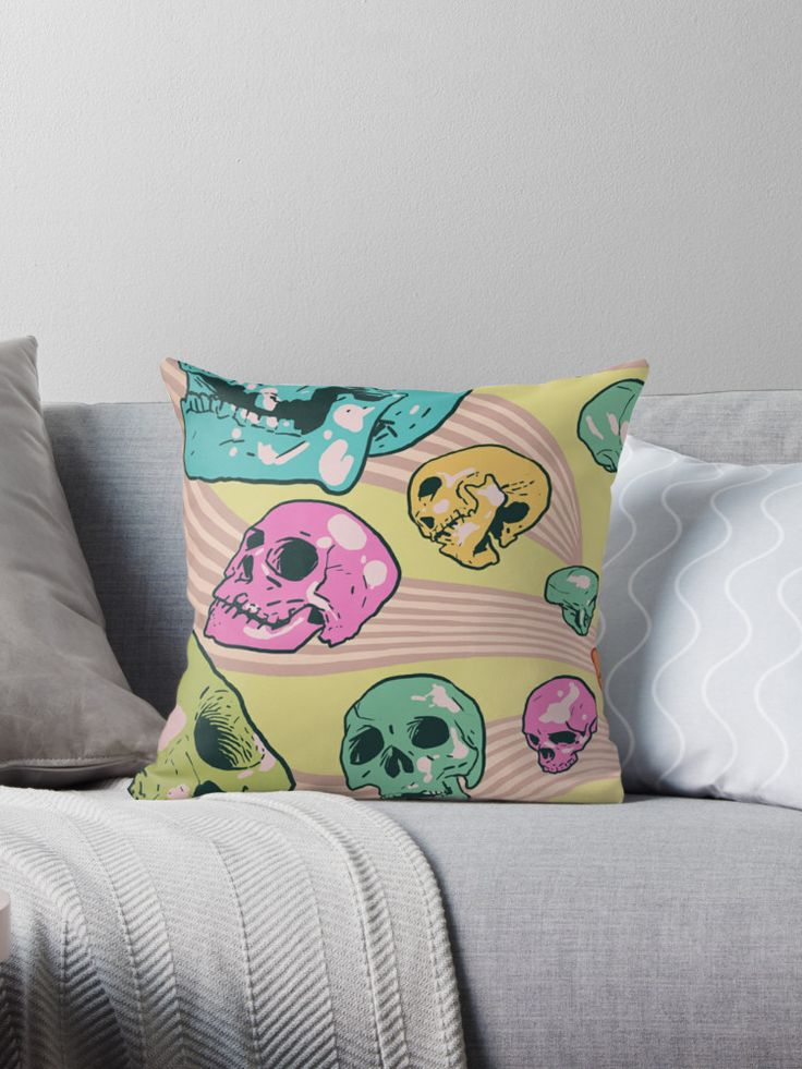 A candy-coloured maelstrom of flying skulls! Inspired by the mind-warping sounds of Unknown Mortal Orchestra. • Also buy this artwork on home decor, apparel, stickers, and more.