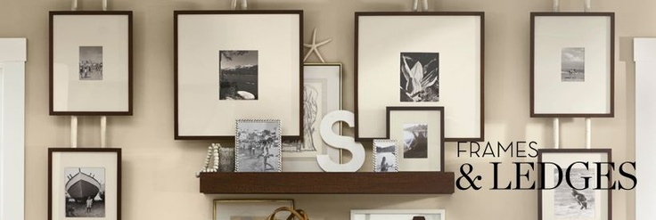 mixing it up a pottery barn: Pictures So, Beaches House, Photo Walls, Decorating Ideas, Wall Pictures Frames, Barns Frames, Nautical Ropes, Frames Wall, Wall Ideas