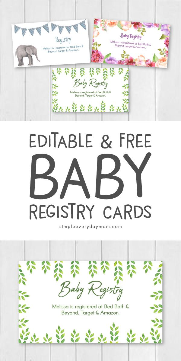 This is an image of Stupendous Free Printable Baby Registry Cards