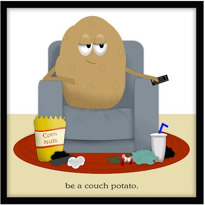 Be a Couch Potato Gift Basket- A Relaxing Gift- The Manly Way.  Free PDF tag.