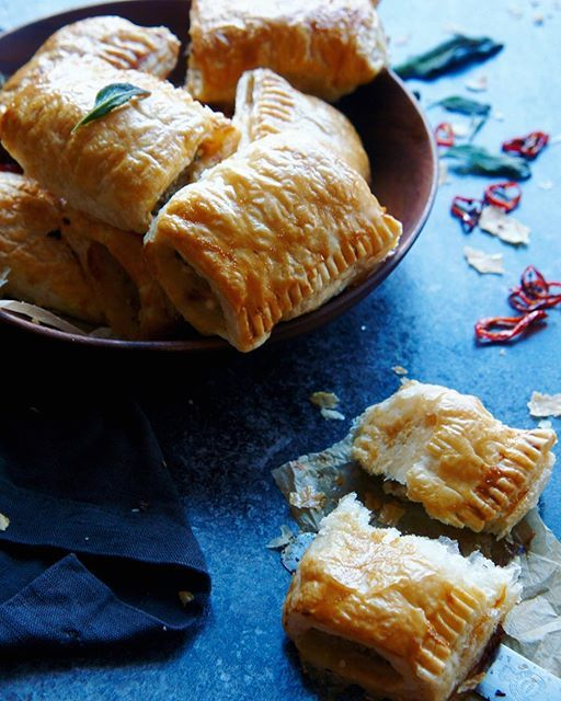 Sausage rolls with chilli, feta and sage  - so easy and SO delicious!