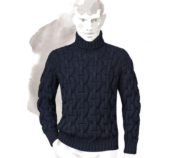 Hermès - Col roule : le pull mode homme de la saison automne hiver 2015