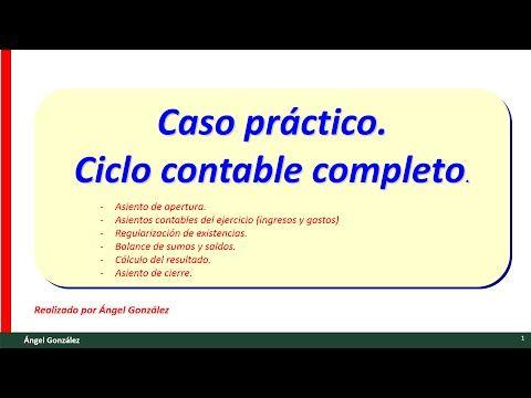 (11) Caso práctico contabilidad básica. Ejercicio de ciclo contable con de ingresos y gastos - YouTube