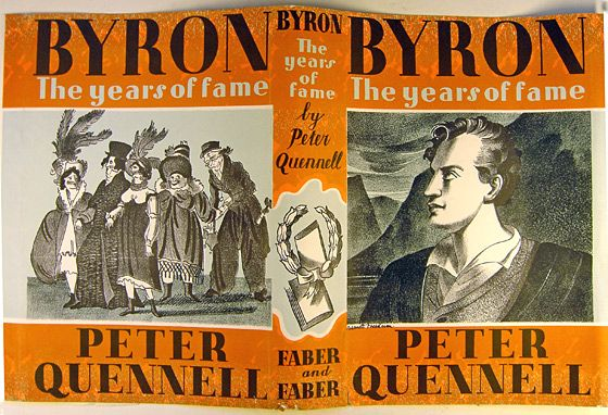 Peter Quennell 'Byron' illustrated by Barnett Freedman. London: Faber & Faber, 1937. l Victoria and Albert Museum