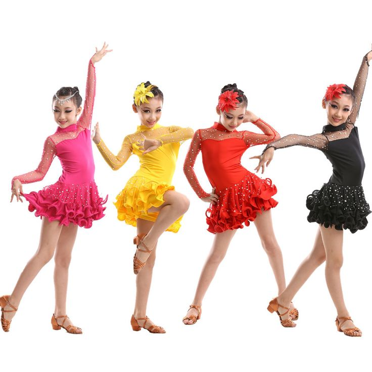 Newest Sexy Lace Long Sleeve Sequin Girls Kids Ballroom Dresses / Tango Salsa Latin Dance Dress Children(China (Mainland))