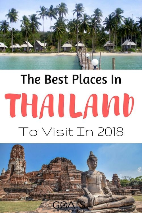Whether it's beaches, jungles or cityscapes you're after, here's the best places to visit in Thailand in 2018, click through to plan your Thailand travel itinerary | #thailand #thailandtravel #landofsmiles #cityofangels #bangkok #travelplanning #bestofseasia #travel #bestintravel #pai #kohsamui #ayutthaya #huahin #khaoyai #kohchang #khaolak #kohmuk #chiangmai #railay #kohlanta #kohkut #kohlipe #chiangrai