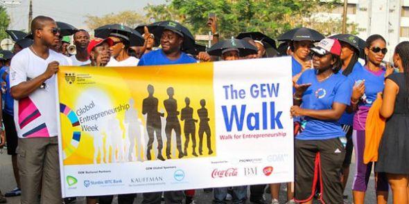 Walking for Entrepreneurship in Nigeria - Global Entrepreneurship Week #GEW