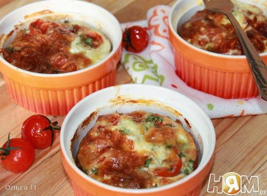 Выпечка и кулинария - рецепты с фото: Рисовая запеканка с тунцом и помидорами черри